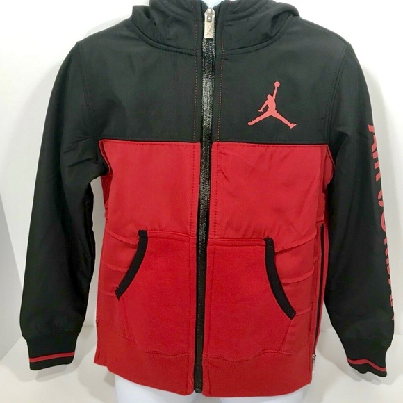 402ca455762f Jordan Red Black Full Zip Retro Toddler Jacket. NWT